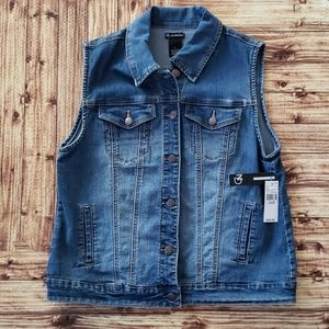 New Directions Jean Vest Size Large New with tags